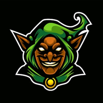 Logotipo do esporte goblin verde