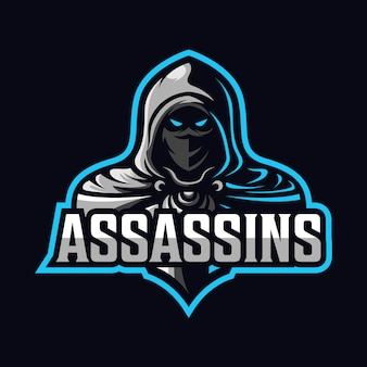 Logotipo do esporte mascote assassino
