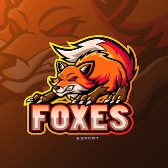 Logotipo do esporte mascote raposa