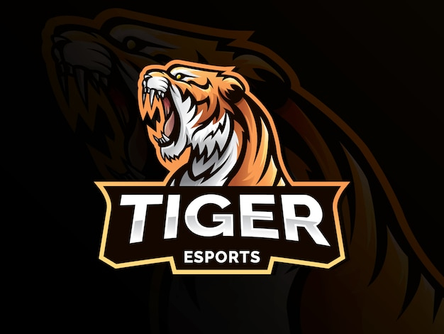 Logotipo do esporte mascote tigre