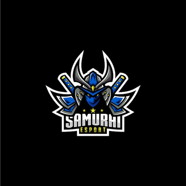 Logotipo do esporte samurai