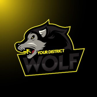 Logotipo do esporte simples lobo