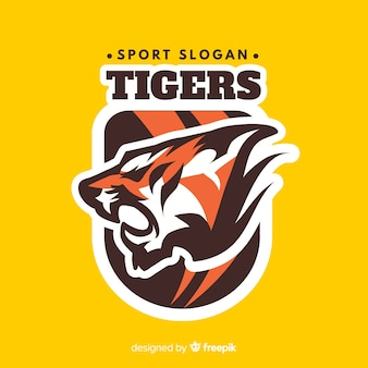 Logotipo do esporte tigre