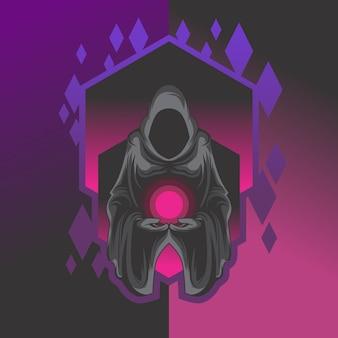 Logotipo do esports do grim reaper