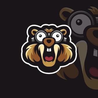 Logotipo do esquilo mascote
