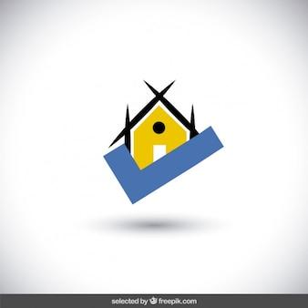 Logotipo do estado real com ícone de verificação
