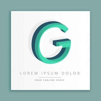 Logotipo do estilo abstrato 3d com letra g