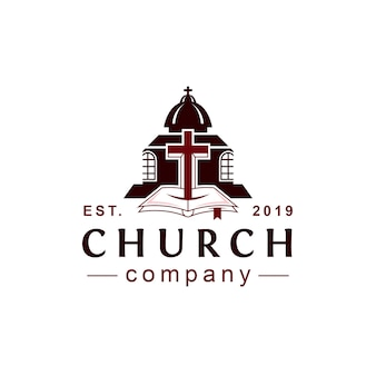 Logotipo do estilo clássico da igreja