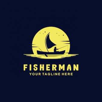 Logotipo do estilo pescador