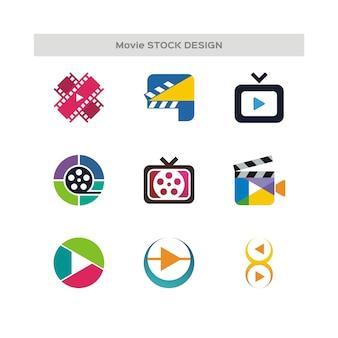 Logotipo do estoque de estoque de filme