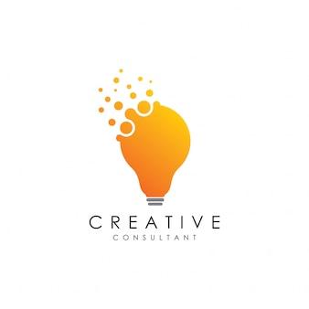 Logotipo do estúdio de lâmpada pontilhada
