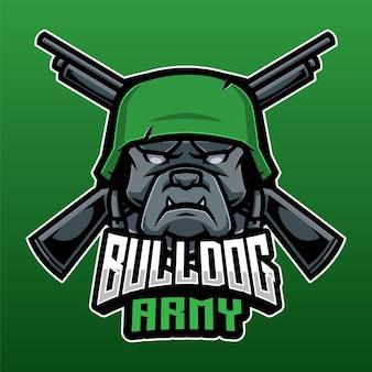 Logotipo do exército bulldog