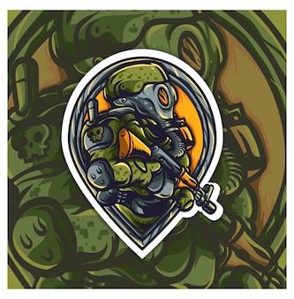 Logotipo do exército esport