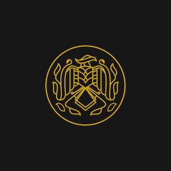 Logotipo do falcão retrô