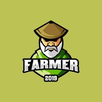 Logotipo do fazendeiro mascote