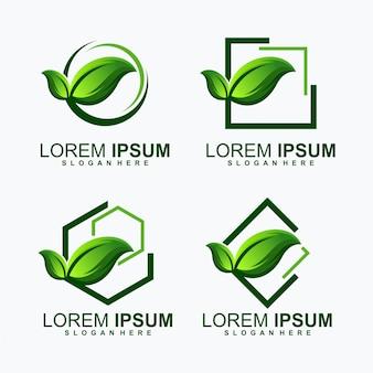 Logotipo do feixe de folhas