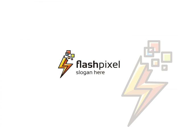 Logotipo do flash pixel