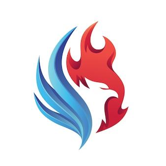 Logotipo do fogo da águia