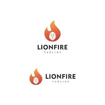 Logotipo do fogo do leão