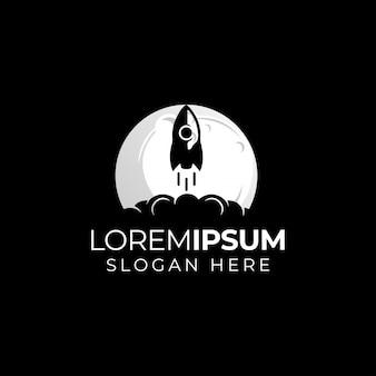 Logotipo do foguete da lua