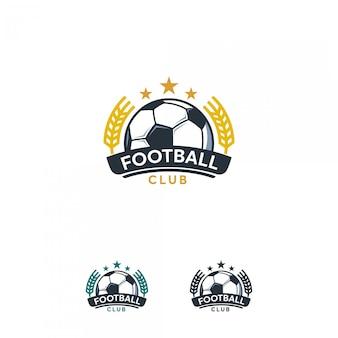 Logotipo do futebol, emblema do logotipo de futebol