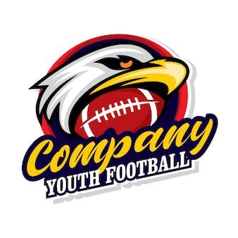 Logotipo do futebol juvenil, emblema do esporte
