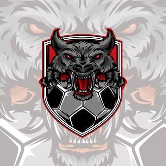 Logotipo do futebol lobo