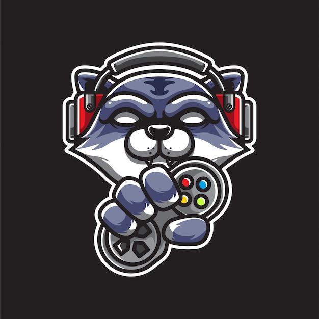 Logotipo do gamer cat e sport