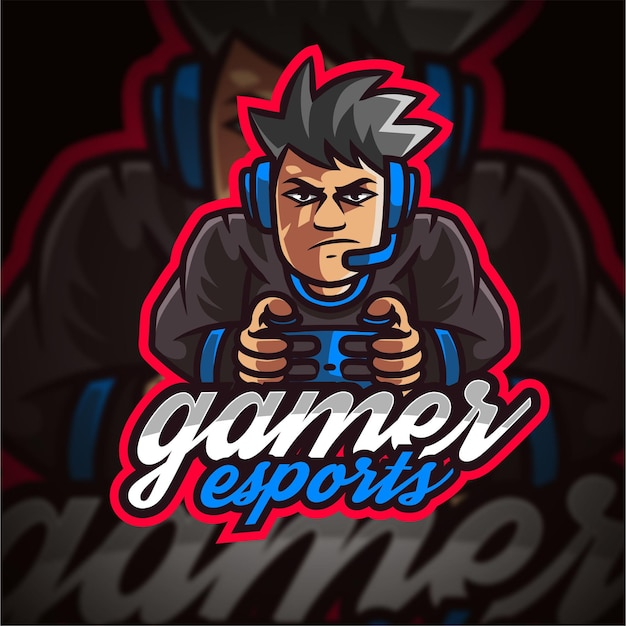 Logotipo do gamer esport gaming