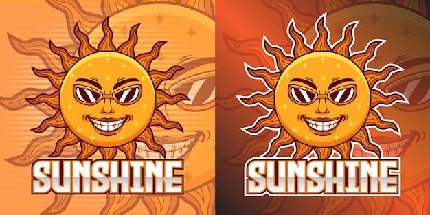 Logotipo do gaming squad, mascote sunshine