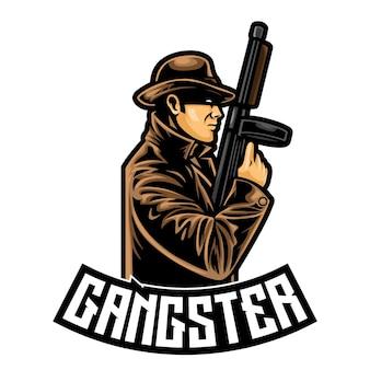 Logotipo do gangster mafia esport