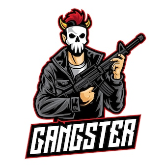 Logotipo do gangster punk esport
