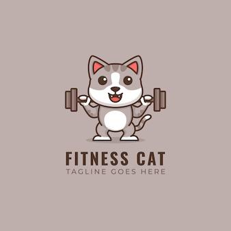 Logotipo do gato de fitness