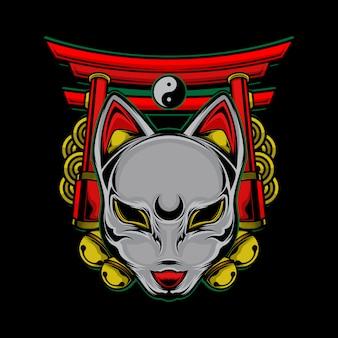 Logotipo do gato japonês