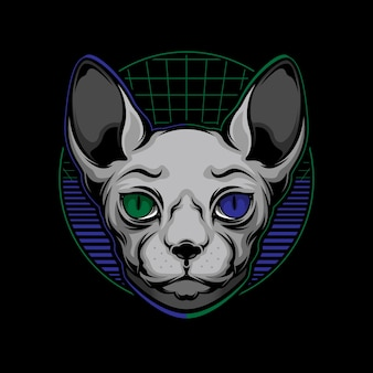 Logotipo do gato sphynx