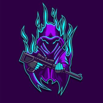 Logotipo do ghost gunner gaming