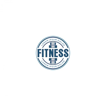 Logotipo do ginásio com logotipo do barbel