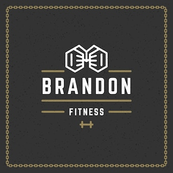 Logotipo do ginásio de fitness
