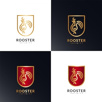 Logotipo do golden rooster infinity