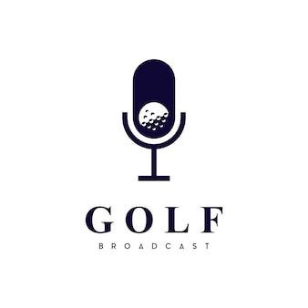 Logotipo do golf podcast channel