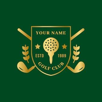Logotipo do golfe gradiente
