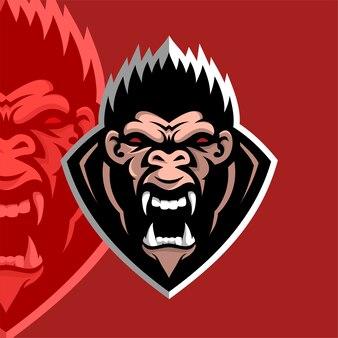 Logotipo do gorila forte