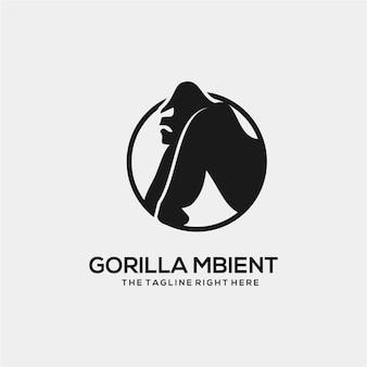 Logotipo do gorila isolado
