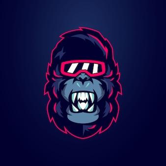 Logotipo do gorilla mascot