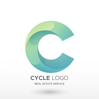 Logotipo do gradiente c
