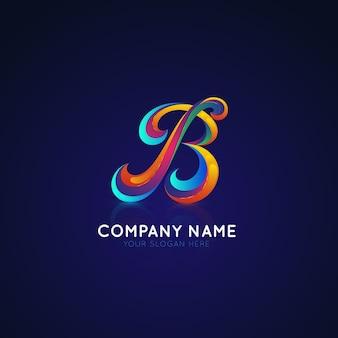Logotipo do gradiente com a letra b