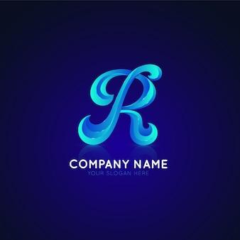Logotipo do gradiente com a letra r
