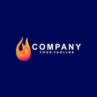 Logotipo do gradiente da cor da chama
