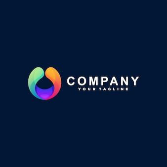 Logotipo do gradiente de cor do círculo
