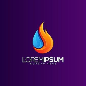 Logotipo do gradiente de petróleo e gás